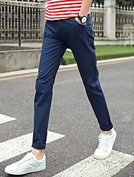 tanie -Męskie Podstawowy Typu Chino Spodnie - Solidne kolory / Kwiaty Khaki