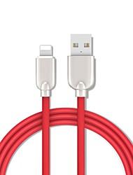 levne -blesk adaptér / kabel 1,5m (5ft) rychlé nabíjení zinková slitina usb kabel adaptér pro iphone / macbook
