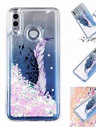 abordables -Coque Pour Huawei P20 Pro / Huawei P30 Lite Liquide / Transparente / Motif Coque Plumes Flexible TPU pour Huawei P20 / Huawei P20 Pro / Huawei P20 lite