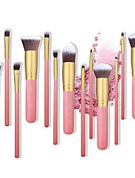 abordables -Profesional Pinceles de maquillaje 14pcs Cobertura completa Confortable Pincel de Fibra Artificial Madera / Bambú para Brocha de maquillaje