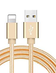 Недорогие -молния USB-кабель адаптера плетеный кабель для Iphone 100 см для нейлона
