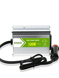 Недорогие -Kesge 100 Вт автомобильный инвертор с розеткой переменного тока для автомобиля DC12V / 24V в AC220V / 110V интеллектуальная множественная защита