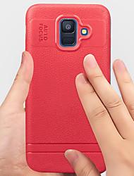baratos -Capinha Para Samsung Galaxy A6 (2018) Antichoque / Anti-poeira Capa traseira Sólido Macia TPU para A6 (2018)