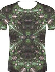 voordelige -Heren Rock / overdreven Print T-shirt Bloemen / 3D / Grafisch Klaver XXL