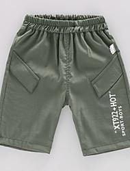 abordables -Enfants Garçon Basique / Chic de Rue Imprimé Imprimé Coton Pantalons Vert