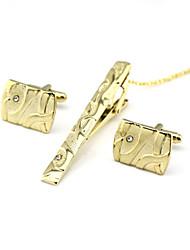 Недорогие -Запонки Зажимы для галстука Формальная Брошь Бижутерия Золотой Назначение Повседневные Офис