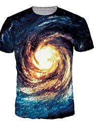 halpa -Miesten Painettu Galaksi / 3D / Kuvitettu T-paita Uima-allas XL