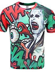 billige -Herre - Geometrisk T-shirt Grøn XXL