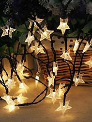 preiswerte -1 Satz LED Laterne Solar Lichterkette 5 Meter 20 Lichter Sterne Sterne kleine Sterne fünf Sterne im Freien wasserdichte Lichter