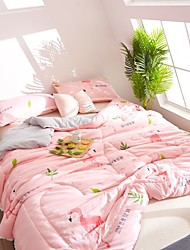 Недорогие -удобный - 1 одеяло Лето Полиэстер Цветочный принт / Простой