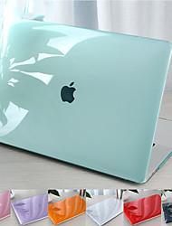 Недорогие -Для MacBook Pro Air 11-15 компьютерный корпус 2018 2017 года выпуска A1989 / A1706 / A1708 с сенсорной полосой из ПВХ рисунок с твердой оболочкой полупрозрачный кристалл чехол