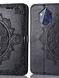 tanie -Kılıf Na Nokia Nokia 9 Etui na karty / Flip Pełne etui Solidne kolory Twardość Skóra PU na Nokia 9