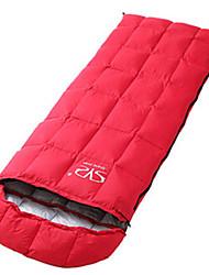 Недорогие -Спальный мешок на открытом воздухе Прямоугольный 15 °C Односпальный комплект (Ш 150 x Д 200 см) Утиный пух Дышащий Сохраняет тепло Теплоизоляция Ультралегкий (UL) Без статического электричества