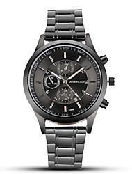 Недорогие -OGY мужские стальные пояса смотреть черные деловые платья кварцевые часы