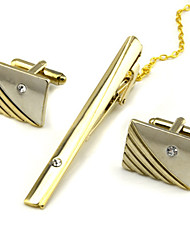 Недорогие -Запонки Зажимы для галстука Формальная Брошь Бижутерия Серебряный Золотой Назначение Повседневные Офис