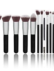 abordables -Profesional Pinceles de maquillaje 14pcs Cobertura completa Confortable Madera / Bambú para Brocha de maquillaje