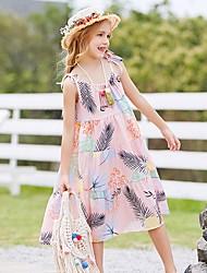 お買い得  -子供 女の子 植物 ドレス オレンジ