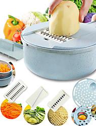Недорогие -мандолина слайсер овощерезка картофелечистка морковь терка лук с ситом овощерезка 8 в 1 кухонные принадлежности
