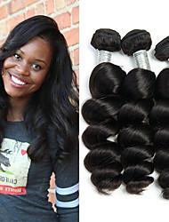 Недорогие -3 Связки Индийские волосы Свободные волны Не подвергавшиеся окрашиванию 100% Remy Hair Weave Bundles Головные уборы Пучок волос Накладки из натуральных волос 8-28 дюймовый Нейтральный