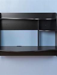 Недорогие -современный настенный портативный компьютерный стол с отделкой из черного дерева