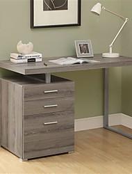 Недорогие -современный левый или правый компьютерный стол для домашнего офиса в темно-коричневых тонах