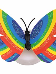 cheap -1pc Fashion Color Changing Cute Butterfly Led Night Light Home Room Desk Wall Decor