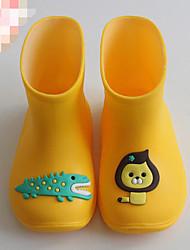halpa -Tyttöjen Kengät Kumi Kevät Kumisaappaat Bootsit varten Lapset Keltainen / Persikka / Vaalean sininen / Säärisaappaat