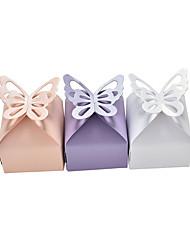 Недорогие -Кубический Розовая бумага Фавор держатель с Каскадные оборки Товары для дома / Подарочные коробки - 50 ед.