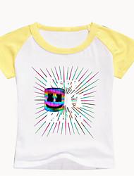 levne -Děti / Toddler Chlapecké Základní Tisk Tisk Krátký rukáv Bavlna / Spandex Košilky Černá