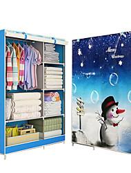 billige -moderne enkel garderobe husholdningsvæv foldning diy ikke-vævet fold opbevaringsskab opbevaring armering kombination garderobe