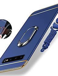 Недорогие -Кейс для Назначение SSamsung Galaxy S9 / S9 Plus / S8 Plus Защита от удара / Покрытие / Кольца-держатели Кейс на заднюю панель Однотонный Твердый ПК / Металл