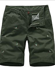 abordables -Hombre Básico Chinos Pantalones - Estampado Gris