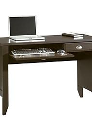 Недорогие -компьютерный стол с подставкой для клавиатуры в темно-коричневой отделке эспрессо мокко