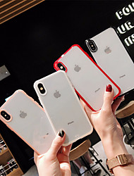 Недорогие -чехол для яблока iphone xr / iphone xs max прозрачная задняя крышка сплошной мягкий мягкий тпу для iphone x xs 8 8plus 7 7plus 6 6plus 6s 6s plus