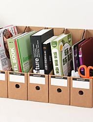 preiswerte -5 stücke hartpapier datei aufbewahrungsbox büro studie desktop organizer kiste set für bücher dokumente organizer für das büro-khaki