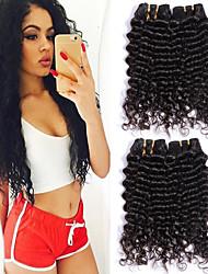 voordelige -6 bundels Braziliaans haar Diepe Golf Niet verwerkt Menselijk Haar Menselijk haar weeft Bundle Hair Een Pack Solution 8-28 inch(es) Natuurlijke Kleur Menselijk haar weeft Waterherfst Geurvrij Zacht