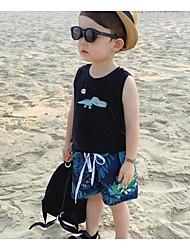 levne -Dítě Chlapecké Cikánský Žakár Spandex Šortky Vodní modrá