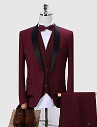 halpa -Tuxedos Normaali istuvuus Huivikaulus Yksirivinen yksi nappi Polyesteri Yhtenäinen