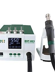 Недорогие -BST 863 бессвинцовая термостатическая тепловая пушка паяльная станция горячего воздуха 1200 Вт интеллектуальный цифровой дисплей паяльная станция для ремонта телефона