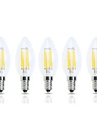 Недорогие -5 шт. 4 W LED лампы накаливания 400 lm E14 C35 4 Светодиодные бусины Высокомощный LED Декоративная Тёплый белый Холодный белый 220-240 V
