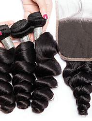 저렴한 -3 개 묶음 브라질리언 헤어 루즈 웨이브 버진 헤어 인간의 머리 직조 번들 헤어 한 팩 솔루션 8-28 inch 자연 색상 인간의 머리 되죠 신생아 라이프 클래식 인간의 머리카락 확장 여성용