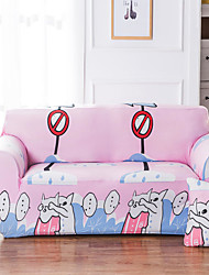 cheap -Sofa Cover High Stretch Sweethearts Cat Printed Soft Elastic Polyester Slipcovers