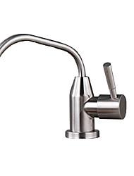 رخيصةأون -حنفية المطبخ - التعامل مع واحد ثقب واحد فولاذ مقاوم للصدأ الماء المقطر أخرى معاصر Kitchen Taps