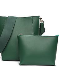 저렴한 -여성용 가방 우레탄 가방 세트 용 일상 / 비치 봄 여름 클로버 / 아몬드 / 밝은 그레이