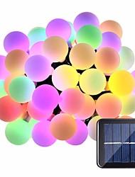 preiswerte -5m Leuchtgirlanden 20 LEDs 1Set Montagehalterung Warmes Weiß / RGB / Weiß Wasserfest / Solar / Kreativ Solarbetrieben 1 set