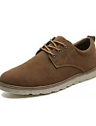 abordables -Homme Chaussures de confort Polyuréthane Eté Oxfords Noir / Jaune / Marron