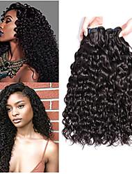 Недорогие -3 Связки Бразильские волосы Волнистые Не подвергавшиеся окрашиванию 100% Remy Hair Weave Bundles Головные уборы Пучок волос Накладки из натуральных волос 8-28 дюймовый Нейтральный
