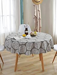 halpa -Nykyaikainen Puuvilla Pyöreä Table Cloths Geometrinen Vedenkestävä Pöytäkoristeet