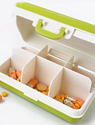 Недорогие -1 шт. Контейнер для лекарств творческий мини портативный шесть прощаний ящик для хранения путешествия