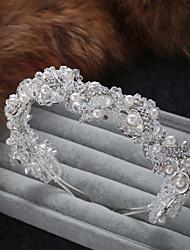 abordables -Cristal / Strass / Alliage Bandeaux / Coiffe / Casque avec Perle / Paillette Brillante / Détail Perle 1 Pièce Mariage / Fête / Soirée Casque